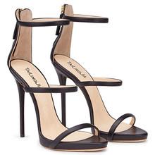 Черные женские туфли на высоком каблуке с тремя ремешками; классические модельные туфли на каблуке с ремешками; цвет РОЗОВЫЙ, золотистый; ла...(Китай)