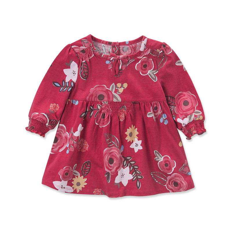 Db3675 Dave Bella Autumn Baby S Red Flower Dress Infant Printed Kid Princess Dresses For Kids Fancy Costumes