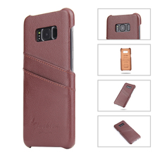 Hot sale back cover case for samsung galaxy s8 leather phone case
