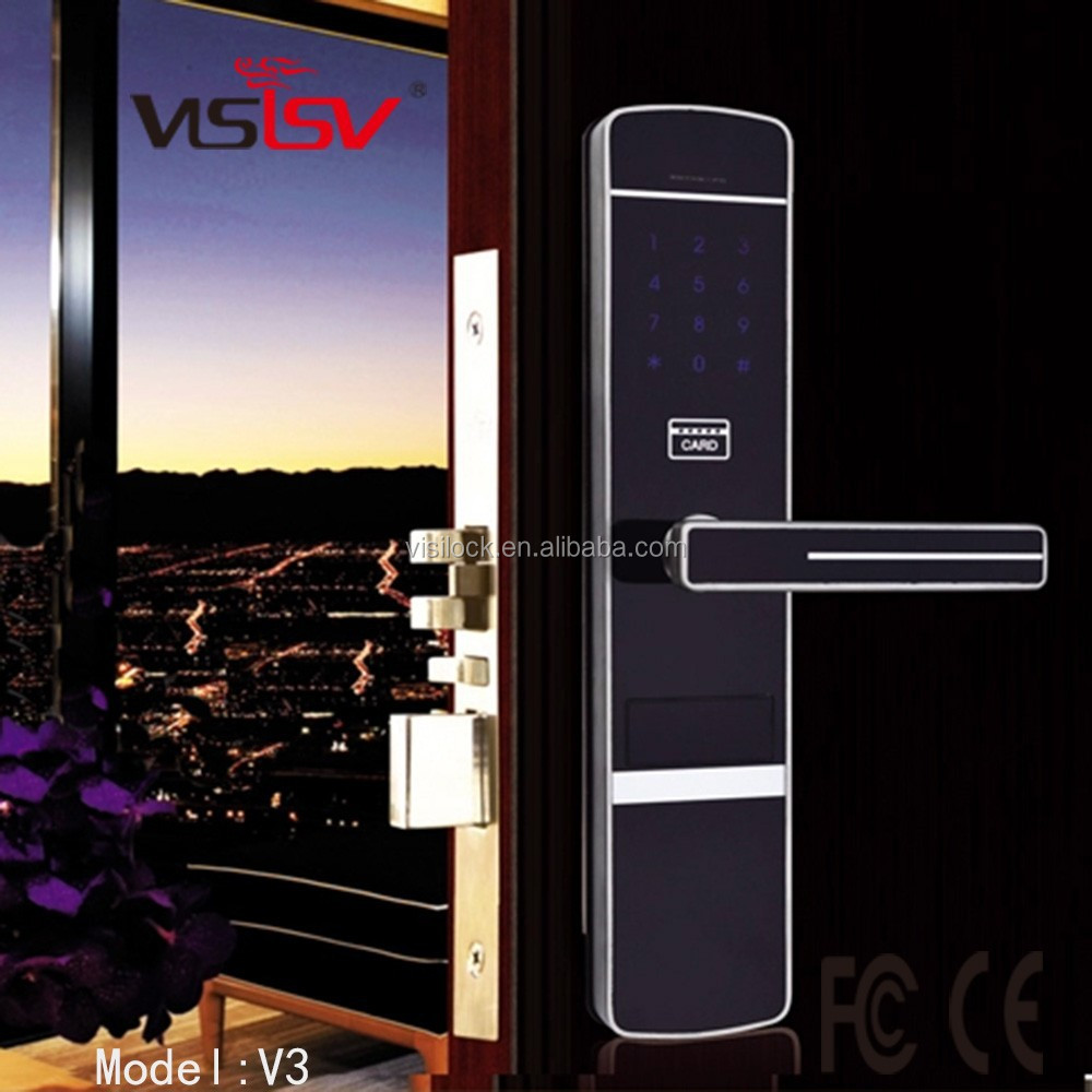 Safety High Class!!!Elegant M1 card digital door lock and keypad lock with touch screen