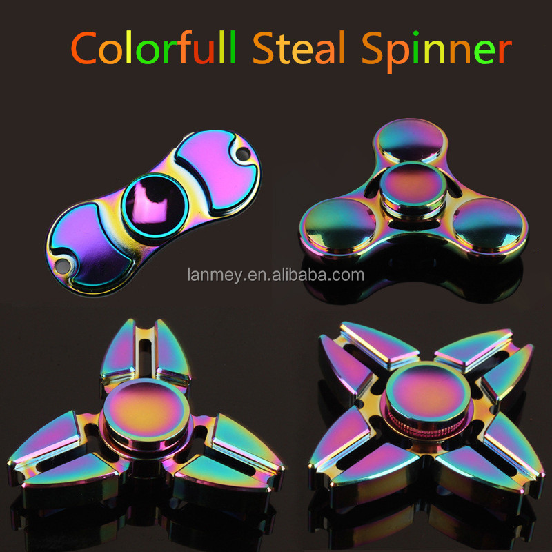 Colorful Stainless steel fidget spinner Stress Relief Toy fidget spinner Stress Relieft chain Metal Hand Spinner toy