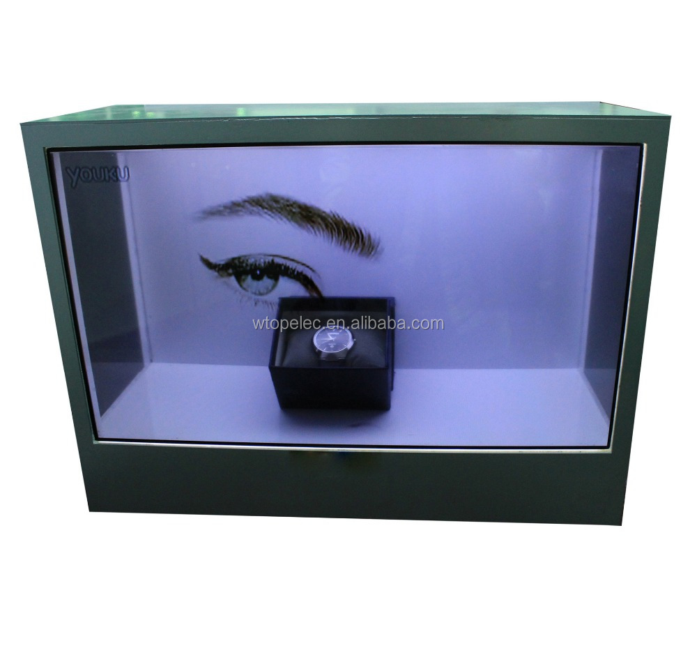 24 inch transparent LCD showcase for real object display and media advertising