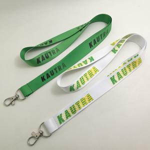 green color dye sublimation lanyards
