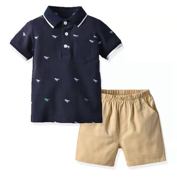 Hot Sale Summer Children's Clothes Toddler Kid Fashion Set Baby Boys Cloths Tracksuits Polo Shirts+Shorts Newborn Infant Outfit