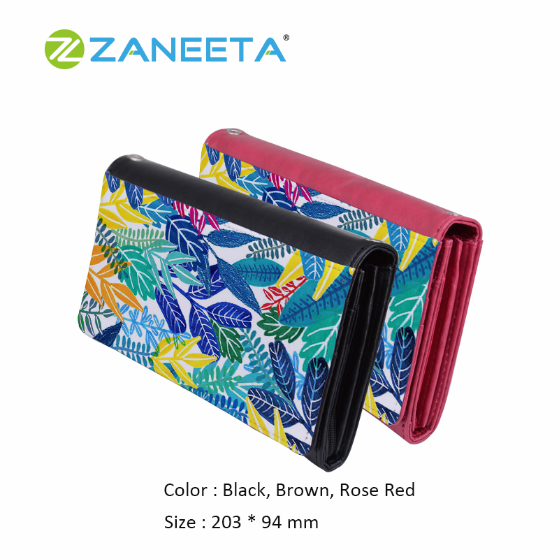 PU Leather Wallet Sublimation Printing on Wallet Shoulder Bag with Chain,  View floral print pu leather wallet, ZANEETA Product Details from Guangzhou