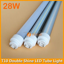 28W LED Dual Shine Tube 125lm/w R17D G13 FA8 led tube rotatable lamp end