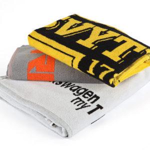 promotional advertising towel cotton advertising towel with custom slogan