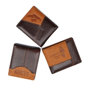 Luxury Brand GUBINTU Wholesale Genuine Leather Men's Short Style Wallets,Coin Purse