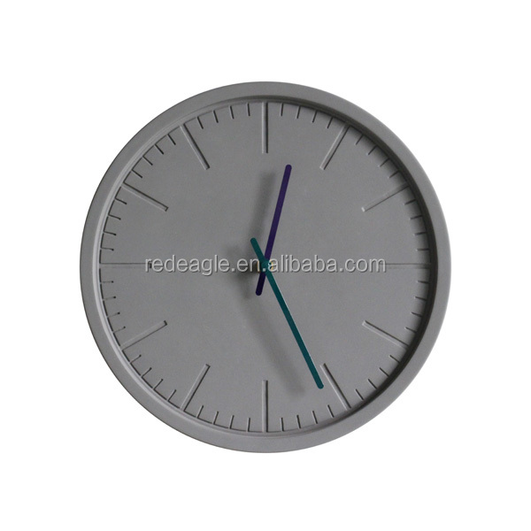 Plain concrete luxury wall decorative bare concrete large wall clock