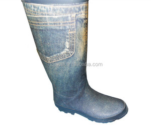 Ladies knee boots rubber boots wellies