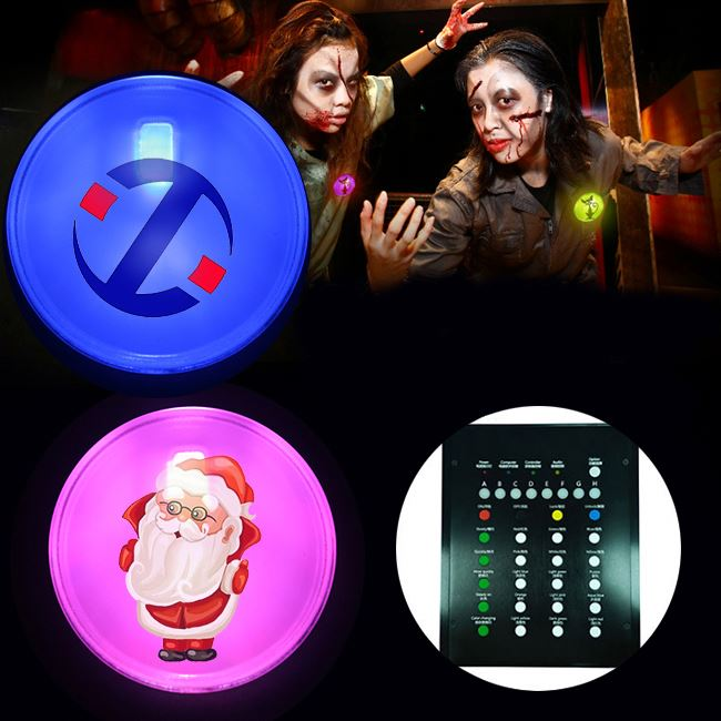 Regalo di natale di Telecomando Led Plastic pin badge/led distintivo