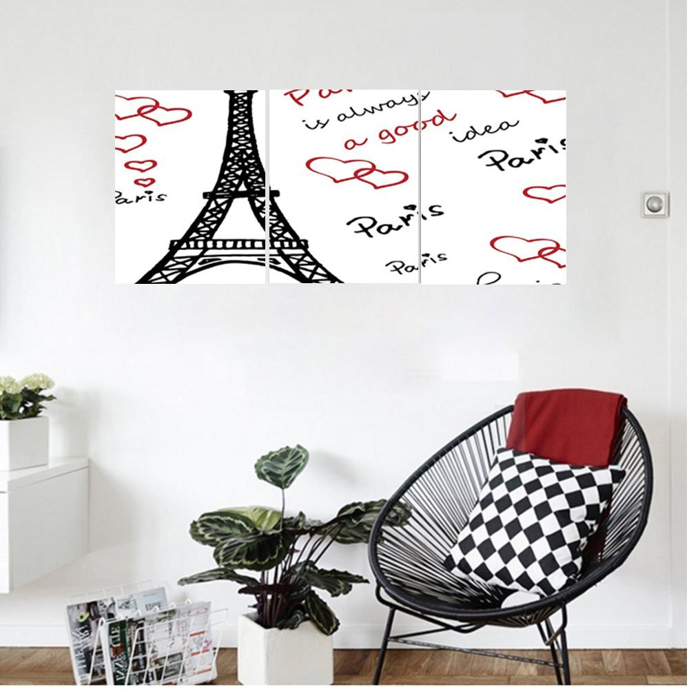 Liguo88 Custom canvas Eiffel Tower Decor Wall Hanging Eiffel Tower Paris Is Always A Good Idea Tourism Locations Sweet Love Clipart Bedroom Living Room