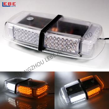 Dual 12v-24v Amber Mini Car Roof Lightbar / Security Police Light ...