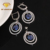 Luxury Sapphire 925 Silver Jewelry Sets Handmade Wedding Jewelry Sets for Bridal Women