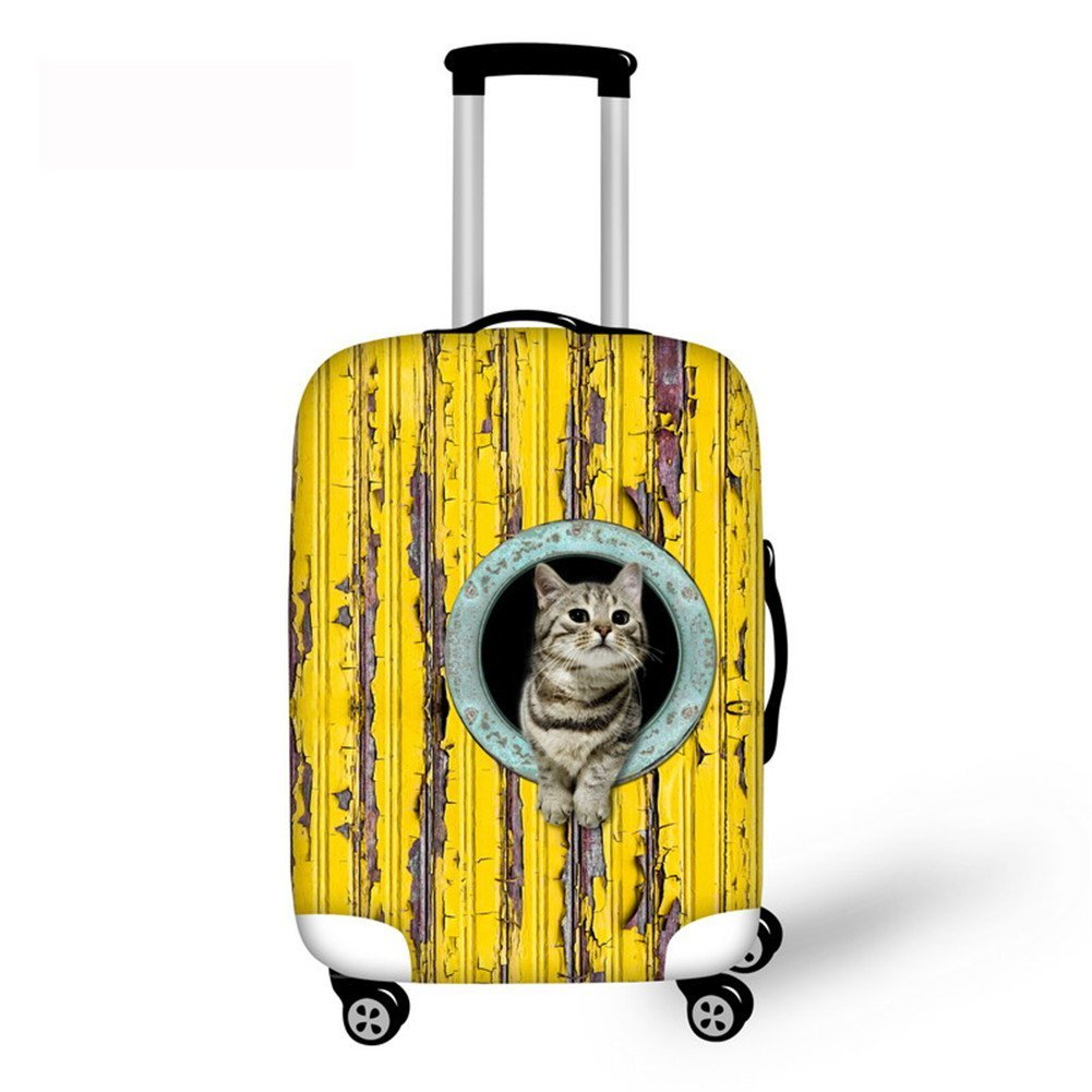 Travel Luggage Cover Flying Abstract Suitcase Protector Fits 22-24 Inch Washable Baggage Covers