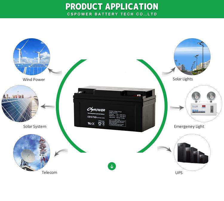 Cspower Blei-Säure-Batterie 12V7ah für USV / Telekommunikation / Notstromversorgung