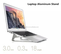 Good Heat Dispassion & Durable Laptop Aluminum Alloy Metal Stand Holder, For Macbook Metal Stand Cooling Pad