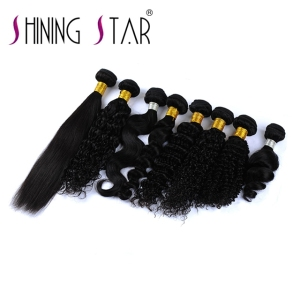 Large Stock indian remy hair ponytail clip in extension natural Botswana