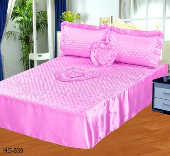 4 Stücke Satin Bettwäsche Set Bettdecke Set Quilt Sets Volle Größe