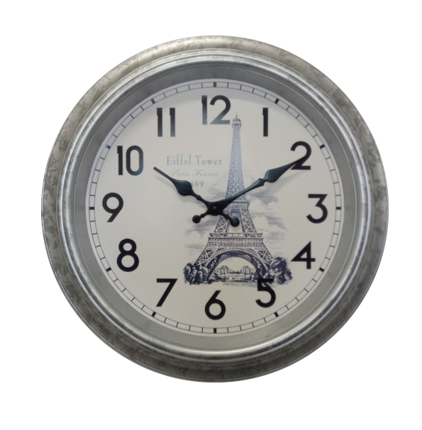16inch Antique Hanging Plastic Wall Clock for Decoration