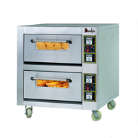 Reliable Double Deck Double Tray Bakery Bread Machine / Energy Efficient Electric Bakery Oven / Electric Oven of China