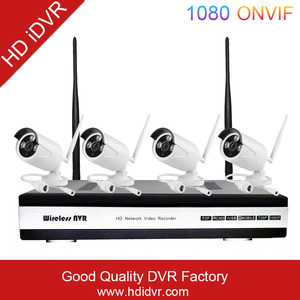HD iDVR China Ip Camera Wifi With 4 Zone Motion Detection P2P Wifi Camera Outdoor Wifi Nvr Kits With 4Pcs 960P Ir Bullet Camer