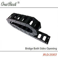 JFLO 1 Meter 25x57mm CNC Router Cable Chain  Wire Carrier Cable Drag Chain Bridge Open on Both Sides with end Joints Tanks chain