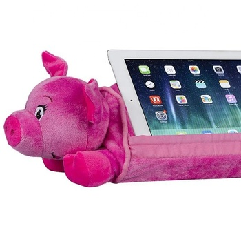 Plush Lion Stuffed Animal Tablet Pillow Toy Tablet Holder Lion For