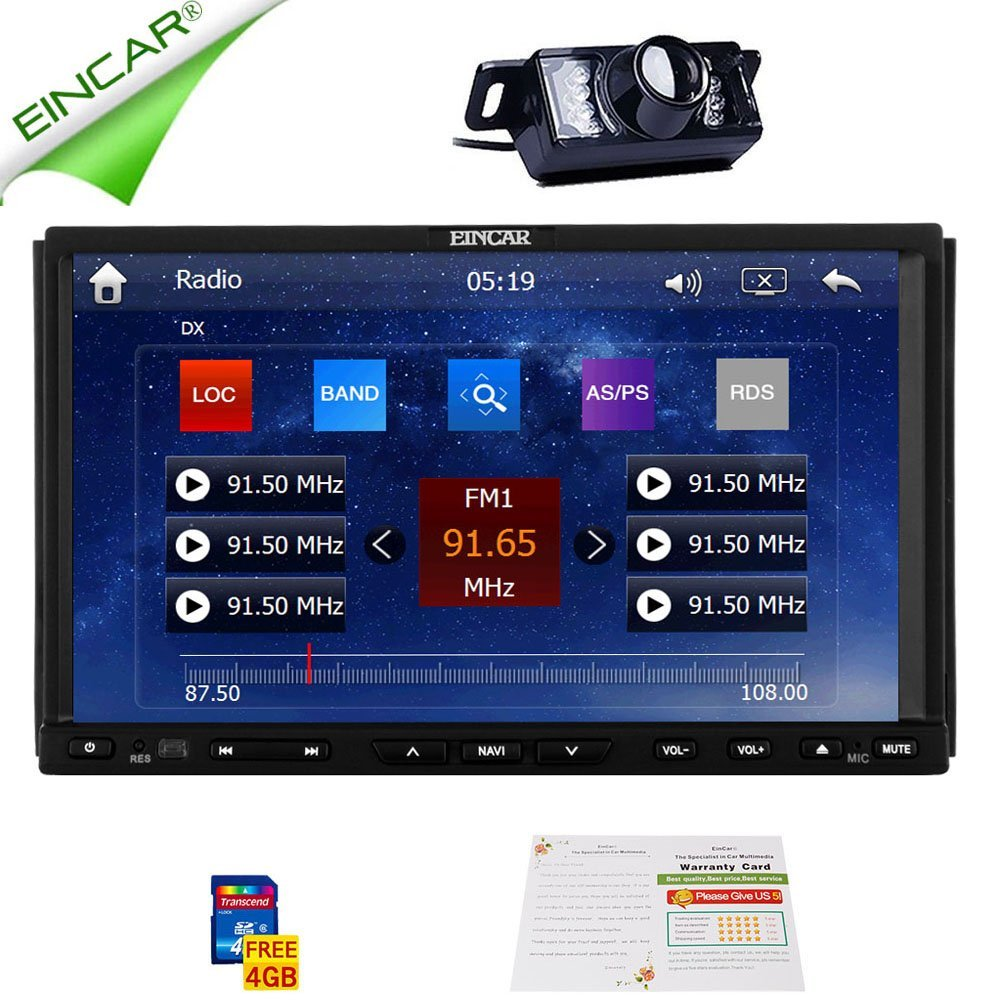 """Christmas Sale!!! 2DIN 7"""" Universal Double Din LCD Car Stereo In Dash HD Capactive Video Touch Screen Car DVD Player Double Head Unit Din GPS Navigation AM FM AUX Radio and Backup Camera Monit"""