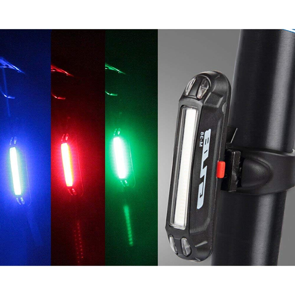 Mercery Waterproof Super Bright Bike Taillight Red Warning Flashing USB Rechargeable Bicycle Rear Lights Easy Installation LED Powerful Mountain Rear Lamp Optimum Cycling Safety Equipment Tail-lamp Li