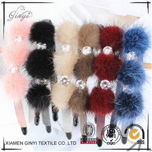 PU Imitation Leather Covered Girls Kids Head Band GYHB-087