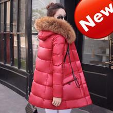 2016 New Female Long Parkas Large Fur Collar Women font b Winter b font Down Coat