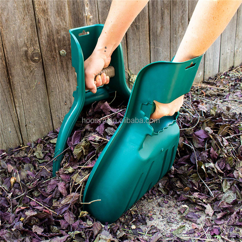 Leaf Rake Grass Collector Claws Hand Held Garden Leaf Scoops