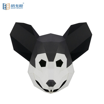 High quality rat animal shaped craft paper handmade 3D paper mask paper party mask