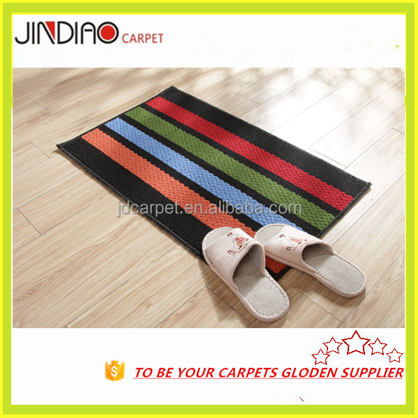 Colorful Turquoise Indoor Outdoor Thin Carpet