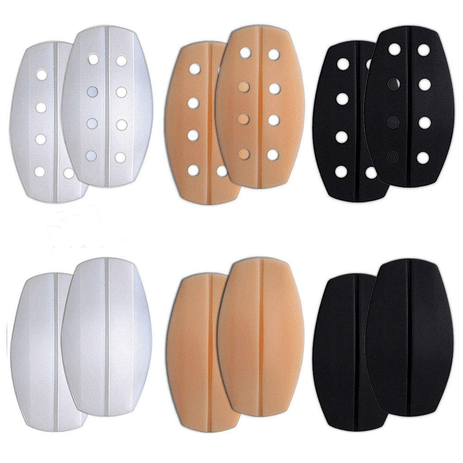 [6Pairs/Pack]Women's Soft Silicone Bra Strap Cushions Holder Non-slip Shoulder Protectors Pads