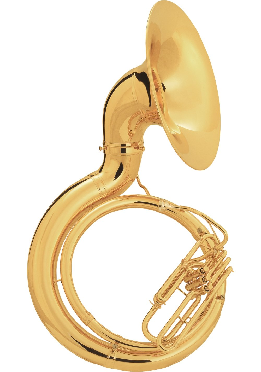 King 2350 Series Brass BBb Sousaphone 2350SB Satin Silver - Instrument Only