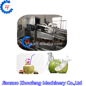 Coconut water collecting splitting machine/green coconut half cutter