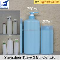 1000ml 2000ml 1 Liter Plastic Shampoo Bottle with Pump
