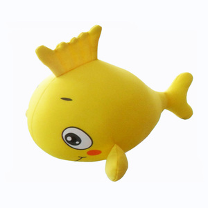 Yiwu manufacturer house decorations soft pillows animal yellow fish seaworld beads toy