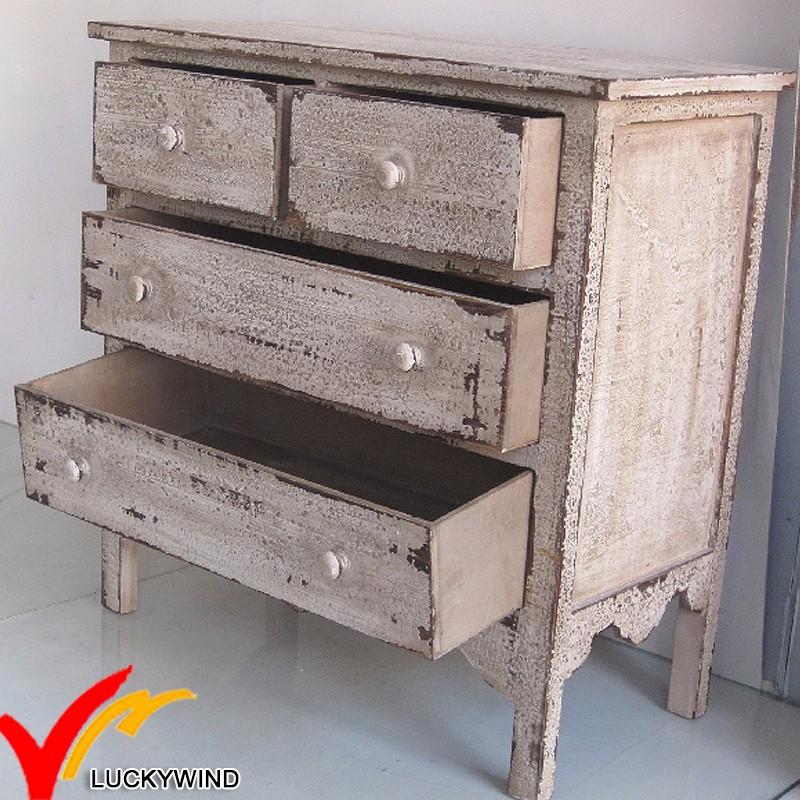 Vendite calde all 39 ingrosso fsc shabby chic vintage rustico mobili usati in legno cassettiera - Mobili shabby usati ...