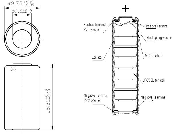 8 lr932 metal pack 12v alkaline battery 23a  mercury free