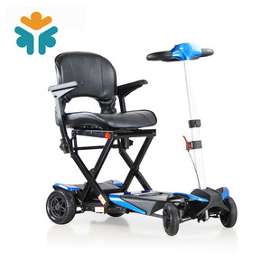 Handicapped Intelligent Four Wheel Portable Travel Folding Mobility Scooter