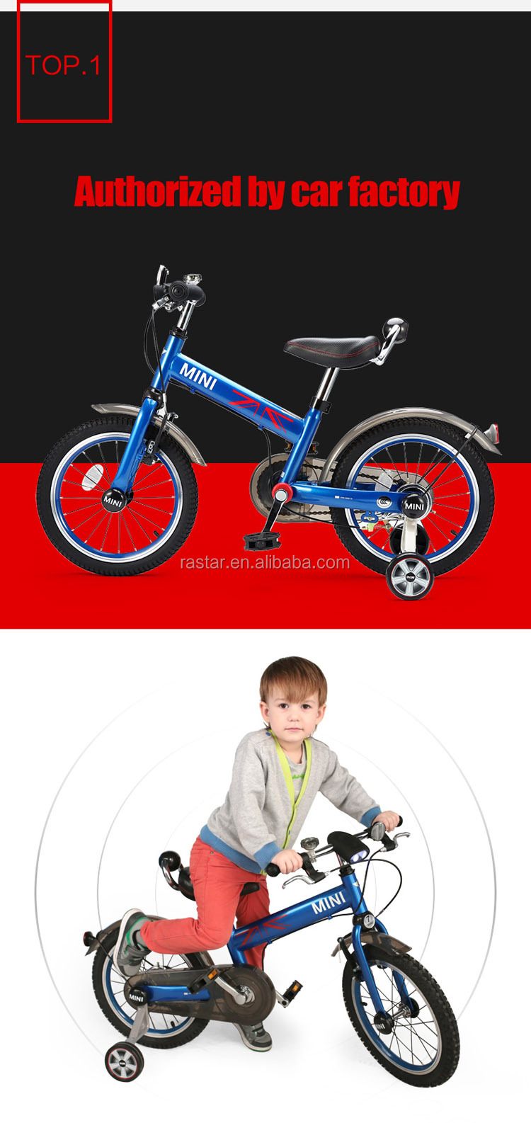 "RASTAR 16"" ride cycle MINI COOPER licensed kids road bike"