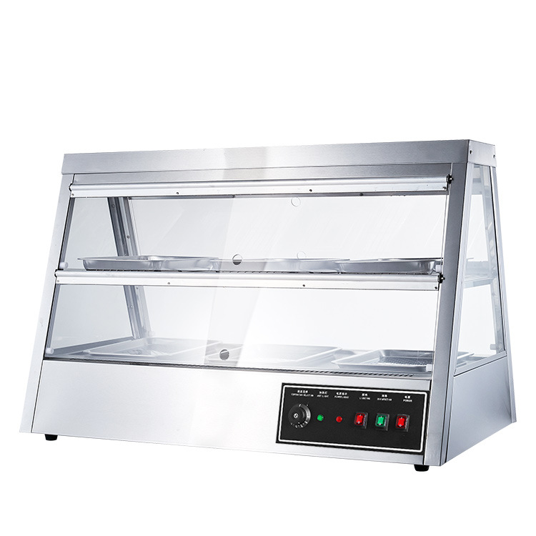 snack food warmer display glass cabinet machine price