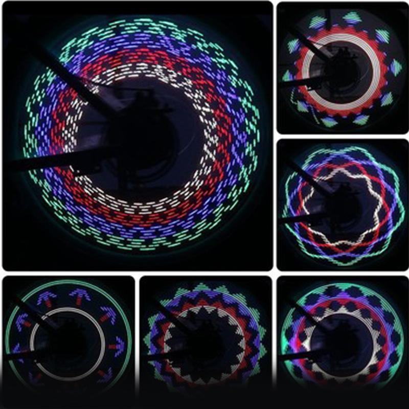 Colorful bike light 14LED wheel led light 30 different patterns spoke light