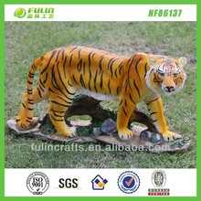 Resin Home Sculpture Garden Figurine Polyresin Tiger Painting