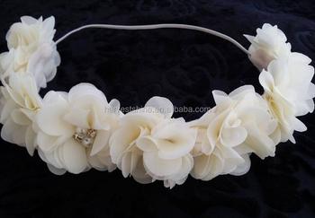 Ivory Flower Crown Headband c7e09356d15