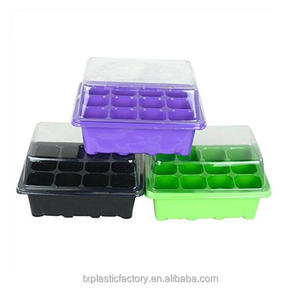 High quality 12 cells seed growing propagator kit, fodder seeding tray