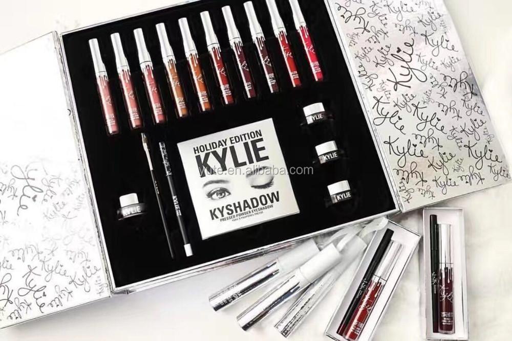 2017 Kylie Makeup Kylie big box By kylie lip kit matte <strong>cosmetics</strong> With Promotional Price